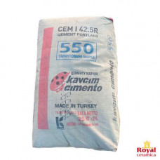 Портландцемент Kavcim Cimento М550 CEM I 42,5 R Д0, Турецкий цемент, 25 кг
